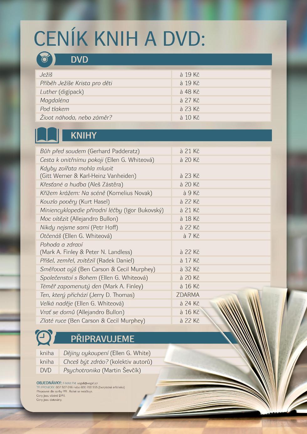 Knihy a DVD zdarma